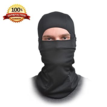 Balaclava Face Mask - One Size Fits All Elastic Fabric - Protects From Wind, Sun, Dust - Ideal for Motorcycle, Face Mask for Ski, Snowboard, Cycling, Running or Hiking - For