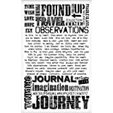 Words Remnant Rubs by Tim Holtz Idea-ology, 5 x 7 Inches, 2 Sheets, Black/White, TH93055