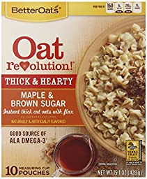 Better Oats Revolution Maple and Brown Sugar, 15.1 Ounce (Pack of 6)