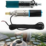 Well Pump, TBVECHI 200W Stainless Steel Submersible Deep Well Pump Submersible Water Pump Heavy Duty DC24V 98FT Head 30m Caliber 25mm