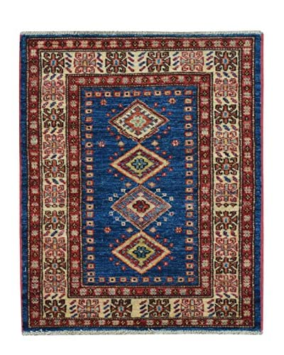 Kalaty One-of-a-Kind Kazak Rug, Blue, 2' x 2' 9