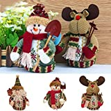 Generic Snowman, 18x13cm : Lovely Santa Claus Snow Man Reindeer Doll Christmas Decoration Xmas Tree Hanging Ornaments...