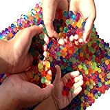 Water Beads, 2 oz pack (Almost 4,000 !!) Sooper Beads® Crystal Water Bead Gel [Rainbow Mix] For Kids Tactile Sensory Experience, Orbeez refill, Wedding Centerpiece Vase Filler, Soil, Plant decoration