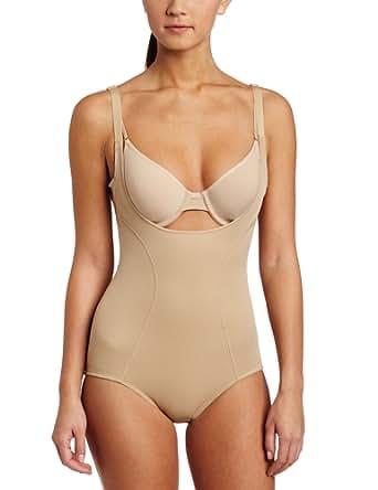 Flexees by Maidenform Women's Ultimate Slimmer(TM) Wear Your Own Bra Torsette Body Briefer #2656, Body Beige, Small