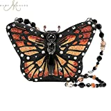 Mary Frances Majestic Monarch Butterfly Beaded Jeweled Handbag Shoulder Bag