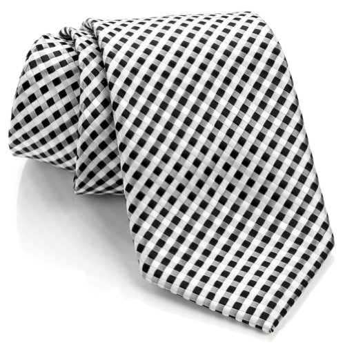 neckties-by-scott-allan-black-and-white-mens-checkered-tie