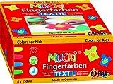 Mucki 28400 - Fingerfarbe Textil 4er Set von MUCKI