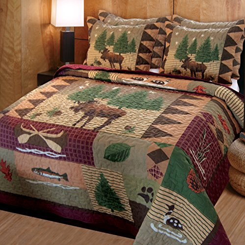 Greenland Home Moose Lodge Quilt Set