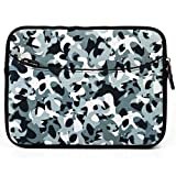 Grey Camo Durable Neoprene Sleeve Carrying Case for T-Mobile G-Slate 4G 8.9 inch HD Touch Screen Android 3.0 Tablet