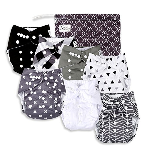 baby-cloth-pocket-diapers-7-pack-7-bamboo-inserts-1-wet-bag-by-noras-nursery