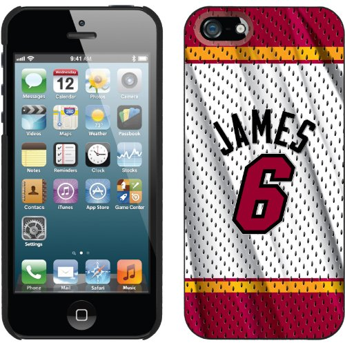 Best Price LeBron James - Home Jersey Back design on a Black iPhone 5s / 5 Thinshield Snap-On Case by Coveroo