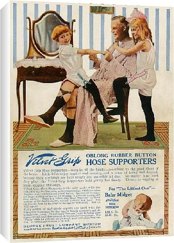 Canvas Print of Garter advertisement, early 1900s from North Wind Picture Archives