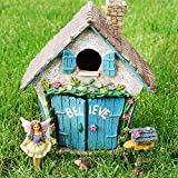 Believe House Fairy Garden Set of 4 pcs, Premium Quality Hand Painted Kit For Outdoor, Indoor, Flat Decor, By Mood Lab