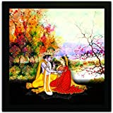 Framed Floral Wall Paintings For Living Room And Bedroom. Frame Size (12 Inch X 12 Inch, (Wood, 30 Cm X 3 Cm X 30 Cm, Special Effect Textured)
