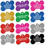Anodized Pet ID Tags - Dog Bone, Round, Heart, Paw, and Anime Tags