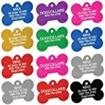 Anodized Pet ID Tags - Dog Bone, Roun...