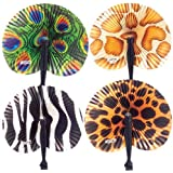 Safari Folding Fans : package of 12