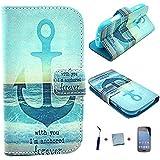 J.E Direct 4in1: Custodia FLIP COVER case in Pelle Portafoglio per Samsung Galaxy Trend s7560 Plus s7580 + Pellicola protettiva + Stylus + panno, modello-05