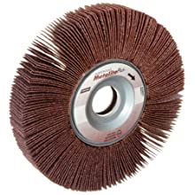 "Norton Metalite Plus R369 Abrasive Flap Wheel, 1"" Arbor, Ceramic Aluminum Oxide"