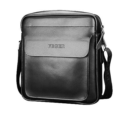 Zicac Mens Leather Shoulder Bag Handbags Briefcase For The Office Messenger Bag 101