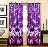 "Home Candy 3D Print Reactive Bliss 2 Piece Polyester Door Curtain Set - 84""x48"", Multicolor"