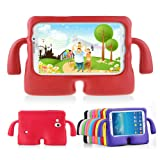 Lioeo Samsung Galaxy Tab 3/3 Lite 7.0 Case for Kids Rubber Shock Proof Protective Case Cover with Carry Handle for Samsung Galaxy Tab 3/3 Lite Tablet 7 inch Screen? (Color: red, Tamaño: 7.0 inch)