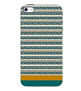PrintDhaba Tribal pattern D-1871 Back Case Cover for APPLE IPHONE 5S (Multi-Coloured)