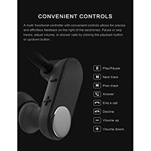 Bluetooth Headphones with Mic, Best Running Workout Gym Earphones, Wireless Bluetooth 5.0 Sports Earbuds,8 Hours Battery Life, Comfortable Wearing Exp