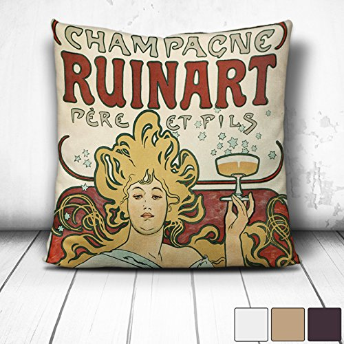 white-backed-faux-suede-cushion-17x17-inch-45-x-45-cm-alphonse-mucha-champagne-ruinart-square-throw-