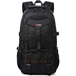 KAKA Outdoor Mountaineering Traveling Casual Bag Backpack - Black