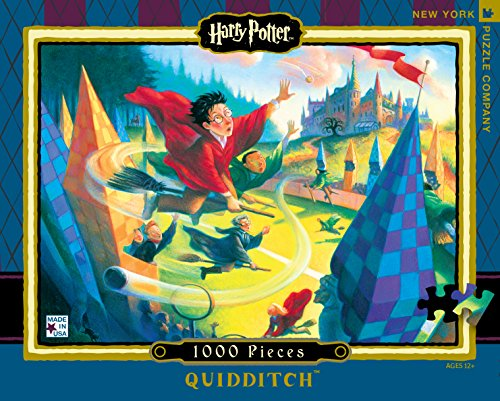 New York Puzzle Company - Harry Potter Quidditch - 1000 Piece Jigsaw Puzzle (1000 Piece Puzzle Harry Potter compare prices)