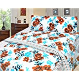 Cosmosgalaxy Cotton Double Bedsheet With Pillow Covers - Queen Size, Multicolor - B00SWKMTJA