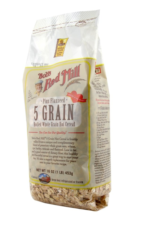 Amazon - Bob's Red Mill Cereal 5 Grain Rolled, 16oz - 4pack - $7.56