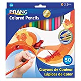 PRANG 22480 Colored Woodcase Pencils, 3.3 mm, 50 Assorted Colors/Set