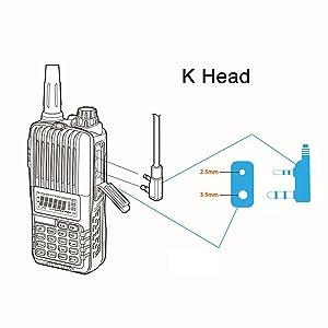 2Pin MIC Earpiece Headset for Baofeng UV5R 888S Retevis H777 Kenwood Radios