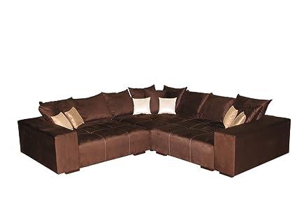 Big Sofa Ecke – Made in Germany – Bezug Alcatex Noble Lux - Freie Farbwahl ohne Aufpreis aus ca. 70 Farben – Nahezu jedes Sondermaß möglich! Info unter 05226-9845045 oder info@highlight-polstermoebel.de