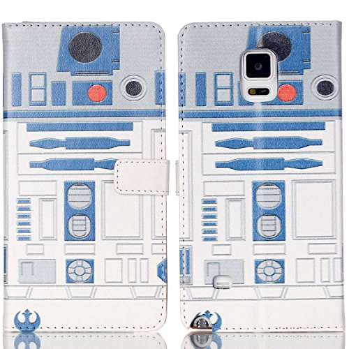 R2D2 Robot Blue and White Pattern Slim Wallet Card Flip Stand PU Leather Pouch Case Cover For Samsung Samsung Galaxy S5 / Galaxy SV / Galaxy S V - Cool as Great Gift (Galaxy S5 Cool Wallet Case compare prices)