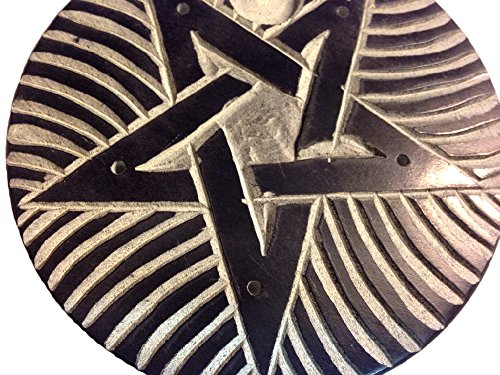 Incensario de estrella de pentagrama - palitos de incienso - diámetro 10 cm