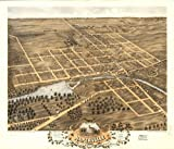 historic panoramic map birds eye view of naperville  dupage county