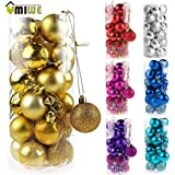 Generic Silver : 24Pcs Christmas Decoration Supplies Christmas Balls Xmas Tree 3cm Bauble Hanging Ball Ornament...