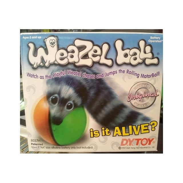348fbfafed26f Weazel Ball Weasel Kids Toy Chasing Rolling Play Drive your Pet ...
