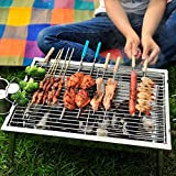 Bargain World Portable Thickened Outdoor Picnic And Home Charcoal BBQ Grill Stainless Steel Folding Grill
