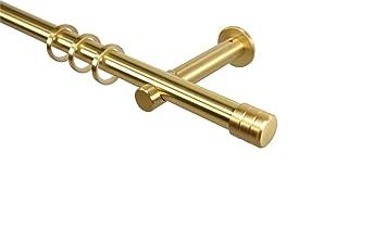 Gardinenstange 20 mm Metallrohr bis 6,00 m in Farbe Messing Top !