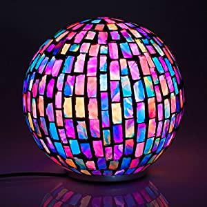 Chameleon Orb Lamp - Colour Changing Mosaic Sphere by The Source