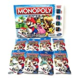 Monopoly Gamer Mario Brothers Bundle With Complete Set Of 8 Power Pack Figures
