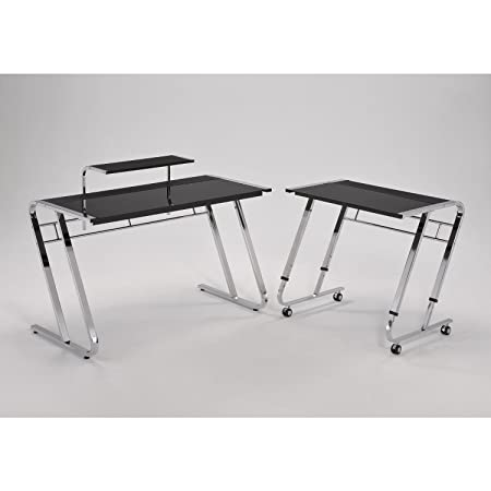ORE International NCT-1150 Modern Computer Desk - Black/Chrome