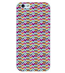 PrintDhaba ZIGZAG PATTERN D-6697 Back Case Cover for APPLE IPHONE 6S PLUS (Multi-Coloured)