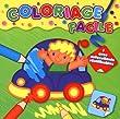 Coloriage facile (Voiture) : Avec autocollants r�utilisables !