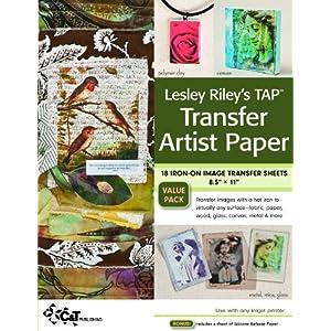 TAP Лесли Райли Передача Художник Бумага 18-лист обновления: 18 Железные листы на Image Transfer 8,5 х 11