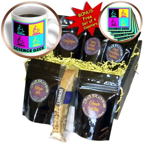 Cgb_102397_1 Dooni Designs Cmyk Hipster Designs - Cmyk Pop Art Microscope Science Geek Design Cartoon - Coffee Gift Baskets - Coffee Gift Basket